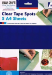25mm Clear Tape Spots For Gift Wrapping - SC143